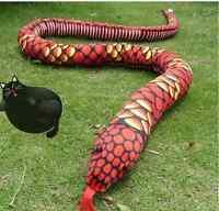 63'' Boa Red Snake Soft Toy Branded Likelife Stuffed Animals Plush Doll Handmade