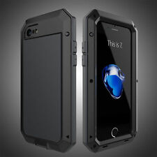 Shockproof Aluminum Gorilla Glass Metal Case Cover for iPhone 5S 6S 7 8 X Plus