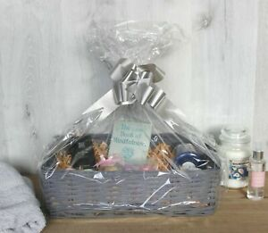Luxury Wicker Basket Make Your Own Hamper Storage Grey Display Christmas Gift