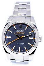 Rolex Milgauss Steel Black Dial Watch & Box  V 116400