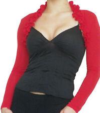 Ladies Bolero Shrug Cardigan Long Sleeve Top Size 8 10 12