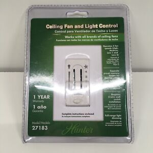 New Hunter Ceiling Fan And Light Control 4 Speed Light Dimmer Switch Model 27183