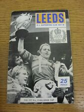 1977/1978 Rugby League: Leeds Official Club Supporters Handbook (minor marking t