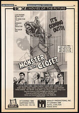 MONSTER IN THE CLOSET__Original 1986 Trade Print AD promo / poster__CLAUDE AKINS