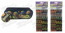 (25ct) Teenage Mutant Ninja Turtles School Boys Assorted Pencils + Pencil Pouch