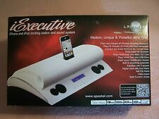 iPod, iPhone Docking Station/Sound System Speakal iExecutive Model IEXEC-WHT-01