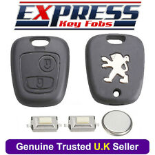 Peugeot 2 Button Remote Key Fob Case Repair Kit Fits 307 Switches + Battery