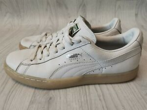 RARE MENS GENTS PUMA BASKET HIP HOP HIPSTER LEATHER SHOES SNEAKERS TRAINERS UK 9