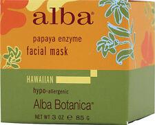 (2 pack) Papaya Enzyme Facial Mask, Alba Botanica, 3 oz