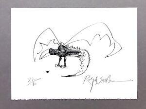 "Ralph Steadman - ""Animal Behaviorist #5"" - GONZO - Signed Lt Ed Print  #22 of 60"