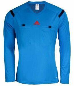 Adidas REF 14 Trikot Schiedsrichter Schiedsrichtertrikot Fußball blau Herren L