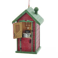 Outhouse w/Black Bear Ornament