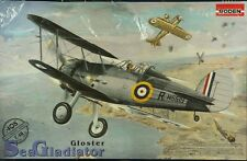 Roden 1:48 UK Biplane Gloster Sea Gladiator Plastic Aircraft Model Kit #405