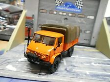 MERCEDES BENZ Unimog 404 LKW Pritsche orange 1960 mit Winde Minichamps 1:43