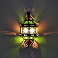 Orientalische Wandlampe Marokkanische Wandleuchte Lampenschirm aus Glas TITA