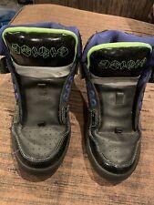 Osiris Bronx Hightop Skate Shoes Mens Size 8 Black Green Purple Galaxy Cube