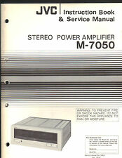 Service Manual JVC M-7050 stereo power amp amplifier Repair book schematic