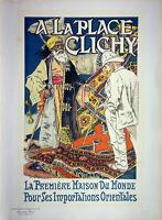 Eugene Grasset: Orientalismus Platz Clichy - Lithografie Originell,Signiert 1895