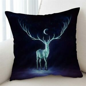 3D Nightbringer Deer JoJoes Art Scatter Pillow Cushion Cover Home Sofa Bed Decor
