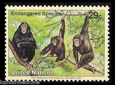 UN 1994 MNH, Endangered Wild Animals , Chimpanzee   - Wa 01