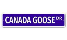 "5521 SS Canada Goose 4"" x 18"" Novelty Street Sign Aluminum"