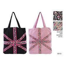 Ladies Pink Union Jack Tote Bag Ditsy Cloth Bag Beach bag