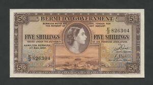 BERMUDA  QEII  5 sh  1957  P18b  About Uncirculated  Banknotes