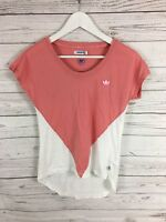 ADIDAS T-Shirt - UK10 - Pink & White - Great Condition - Women's