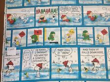 Vintage Peanuts Charlie Brown And The Gang Comic Strip Snow Days! 2 Yards