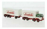 BREKINA 58438 Fiat 690 Millepiedi autocarro con rimorchio ''Locatelli'' HO 1:87
