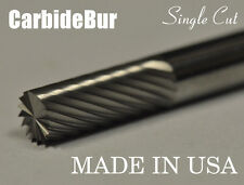 "New Usa Carbide Burr Sb-1 Single Cut 1/4"" Cylindrical End Cut Deburring Tool Bit"