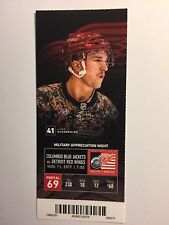 DETROIT RED WINGS VS COLUMBUS BLUE JACKETS NOV 11,2017  TICKET STUB