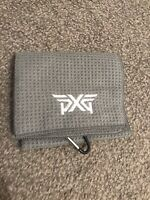 PXG WAFFLE GOLF BAG TOWEL ... NEW IN GREY ( TITLEIST- TAYLORMADE)