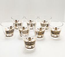 8 Georges Briard Mid Century Name Your Poison Double Old Fashioned Glasses