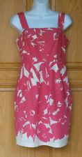 Banana Republic Ladies Size 4P Coral Print Above Knee Strap Dress NWT