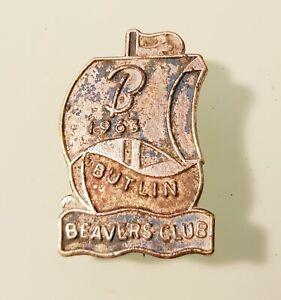 Vintage 1964 BUTLIN BEAVERS CLUB - BUTLINS SAILING BOAT ENAMEL PIN BADGE