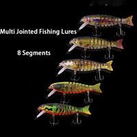 Multi Jointed 8 Segments Fishing Lures Sinking Wobblers Swimbait  Bait Crankbait