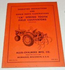Allis Chalmers Ca Spring Tooth Cultivator Operators Amp Parts Manual Original Mntd