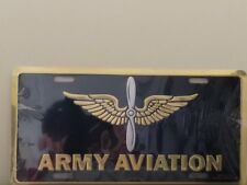 United States Army Aviation in Gold with Insignia Embossed License Plate