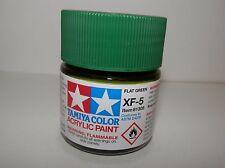 Tamiya Color Acrylic Paint Flat Green #XF-5 (23 ml) NEW