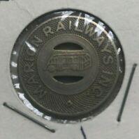 Marion Indiana IN Marion Railways Inc Transportation Token