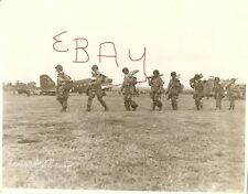 WWII  8X10 PHOTO 82ND 101ST  AIRBORNE PARATROOPERS D-DAY GEAR UP FOR MISSION WOW