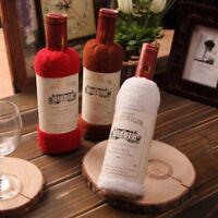 Soft Cotton Bath Towel Cute Wine Bottle Shape Shower Towel Water Absorption Tops
