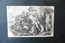 FRENCH SCHOOL 19thC - CLASSICAL SCENE FEMALE NUDES - SUBTILE PENCIL DRAWING
