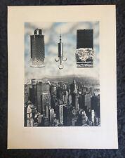 """CHRIS PLOWMAN 1952-2009 Artist's Proof ETCHING """"Manhattan"""""""