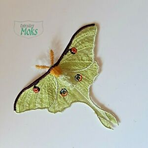 Luna Moth Butterfly Extra Quality Sew-On Embroidered Patch