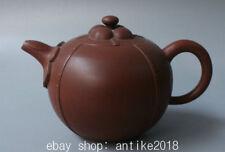 """6.8"""" Marked Old Chinese Yixing Zisha Dynasty Pure Handle Teapot Teakettle"""