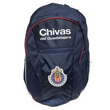 chivas backpack soccer ball school mochila bookbag cinch mexico blue chicharito
