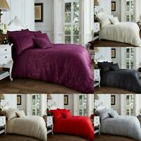 Jacquard Duvet Cover Set Super King Size Single Double Luxury Bedding Set