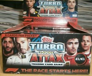 Topps F1 Turbo Attax 2020 Trading Cards Game Choose Quantity 18 36 packs or Box
